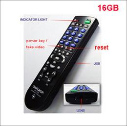 Promotion mémoires vidéo Livraison gratuite HD 1080p caméra espion cachée TV télécommande universelle, TV contrôle caméra espion 8GB / 16GB / 32GB Mémoire optionnelle