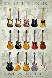 Wholesale Louco Por Guitar Magic Art Silk Wall Poster x36inch Musical Instrument Decor