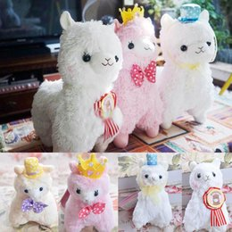 Wholesale 12cm cm Lovely Hat Bowknot Crown Arpakasso Soft Plush Stuffed Alpacasso Alpaca Doll Toy