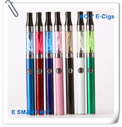 Wholesale-Mini EVOD Electronic Cigarette starter kits 1.3ml E Smart miniAtomizer 390mah EVOD Battery Ego EVOD Blister Kits