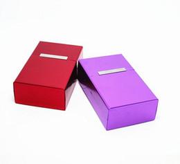 2017 mélanger le cas de la mode Nouveau mode Cigarette aluminium magnétique de poche étui à cigares Box tabac mélangé coloré en stock Livraison gratuite mélanger le cas de la mode ventes