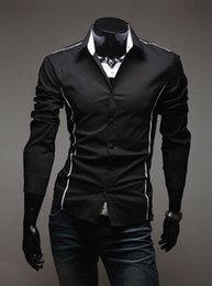 NEW MENS CASUAL LONG SLEEVE SLIM FIT STYLISH SHIRT MF-3640