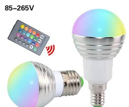 E27 E14 LED RGB Bulb lamp AC110V 220V 5W LED RGB Spot light dimmable magic Holiday RGB lighting+IR Remote Control 16 colors