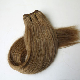 Brazilian human hair wefts Straight Hair weave 100g 20inch 12#Light Golden Brown indian hair extensions