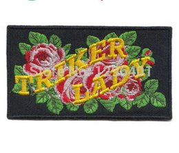 triker lady embroidered iron on patch promotion cheapest price patches free shipping embroidered badges embroidery badge
