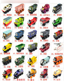Wholesale Cartoons Cars Kids - Wooden Small Trains Cartoon Toys 70 Styles Friends wooden Complete set of car toy train toys (1set=70pcs)