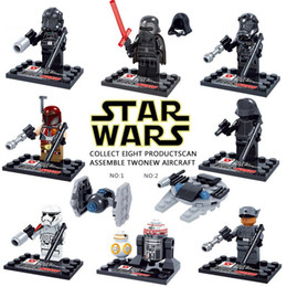 Wholesale SALE star Wars The Force Awakens Moive Kid Baby Toy Mini Figure Building Blocks Sets Model Toys Minifigures Brick