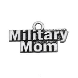 Wholesale New Fashion Easy to diy Metal Alphabet Military Mom Charms Jewelry For Women jewelry making fit for necklace or bracelet
