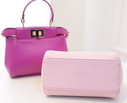 Wholesale Women Handbags New Fashion Lady Mini Handbag Solid Bags Big Girls Hand Bag One Shoulder PU Leather Bags Macarons Color I3799