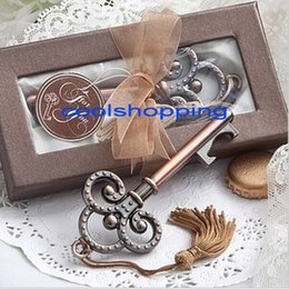 Wholesale DHL Freeshipping Antique Victorian key Bottle Opener wedding favors guest gift