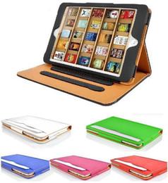 Wholesale iPad6 Air2 Luxury Tan Leather Wallet Stand Flip Case Bag Smart Cover for iPad Air Mini Mini2 Mini3 Retina With Auto Sleep Wake UP