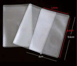 Wholesale 80pcs WHB x6cm mic or mil credit id bank card clear bags unsealed packing card pvc bags