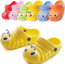 Wholesale Caterpillar Shoes Cartoon - Kids Cute Brand Shoes Children baby boys girls slippers caterpillar animal cartoon style EVA child slipper