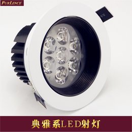 Wholesale 3 tile w7w12w15w18wled black and white lighting led ceiling spotlights downlight background wall