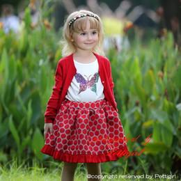 Pettigirl New Arrival Girls Christmas Skirts 100% Cotton Red Dot Girls Skirt Wholesale Kids Clothes (Only Skirt) ST80715-20W