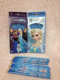 20%off!12 color pencil, pencil drawing cartoon princess snow students colored pencils 24pcs MC