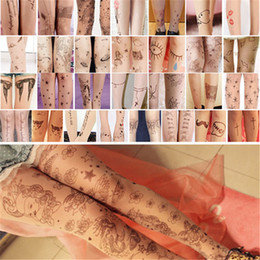 Wholesale Hot Sales Women Girl Sheer Pantyhose Tights Stockings Hosiery Socks Nylon Tattoo Pattern Temptation Trendy Sexy FX154