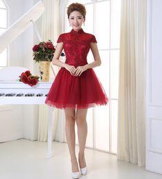 Shanghai Story New Arrival fashion cocktail dress short-sleeve A-line vestidos coctail porm dress vestidos de fiesta 2 color