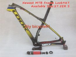Wholesale 2015 Newest Look yellow black red K mtb carbon bicycle frame with stem seat post mountain bicycle Size XS S ER