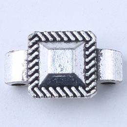 New fashion silver copper retro Rectangle Beads Manufacture DIY jewelry pendant fit Necklace or Bracelets charm 500pcs lot 1702c
