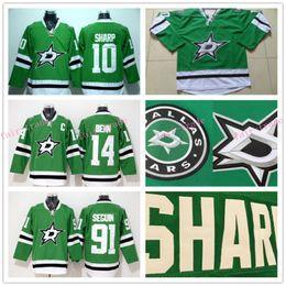 Wholesale Youth Hockey Jerseys Dallas Stars Kids Green Patrick Sharp Jamie Benn Tyler Seguin Best Quality Size S M L XL