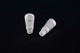 14mm 18mm domeless Ceramic Nails Male joint Ceramic carb cap ceramic nail VS titanium nail Quartz nail
