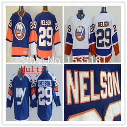 2016 New, 2015 New York Islanders Hockey Jerseys Men's #29 Brock Nelson Jersey Team Blue White Anthentic Stitched NY Jerseys Size