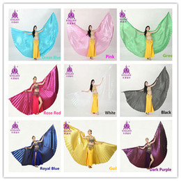 Adult belly dance wear wings silver props indian dance wings belly dance performance wears 11 colors (no stick)