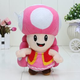 Wholesale 7 inch Super Mario Toadette Plush doll Figure Toy Baby Doll