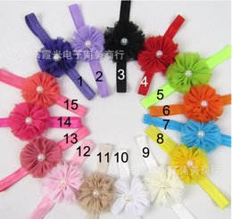 2015 NEW Children's Hair Accessories Small broken flower pearl design Hair Bands Performances Headdress Hair Clips 15 color