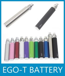 EGo T Battery E Cigarette Ego Battery 10 Colors OEM Design 650 900 1100mAh Electronic Cigarette Battery For CE4 CE5 Ego T Atomizer DC009
