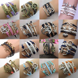 Infinity bracelets HI-Q Jewelry fashion Mixed Lots Infinity Charm Bracelets Silver lots Style chic bracelets E28J