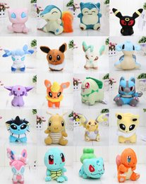 Anime Pikachu plush 20 Different style pocket Center Plush Character Soft Toy Stuffed Animal Collectible Doll
