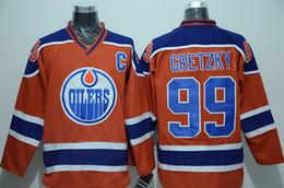 Wholesale Oilers Gretzky Hockey Jerseys Orange Hockey Jerseys Brand Mens Uniforms Sports Shirts Name Number Stitched Hockey Shirts Best Selling