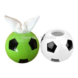 Wholesale Souvenir Gifts Tissue Box Trophy Football Shape Tissue Paper Box Acrylic Tissue Box Embroidery