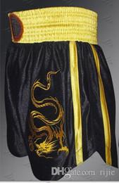 Wholesale Game Sanda pants Sanda embroidered dragon shorts Boxing Fight Muay Thai shorts Martial Arts Shorts