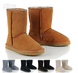 Wholesale new Australia classic short waterproof cowhide genuine leather snow boots warm shoes for women us size5