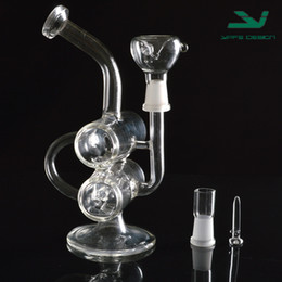 new glass recycler glass water pipe smoking hookahs high quality real pictures bong pipe