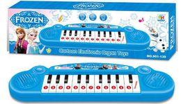Wholesale Frozen princess Elsa Anna cartoon children electronic organ Girls toys keyboard with music demo songs kids gift HX