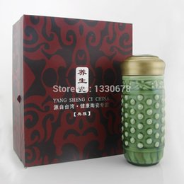 Wholesale New water bottle cup high grade ceramic porcelain ceramic vacuum cup Health porcelainHome Garden with a good packing case