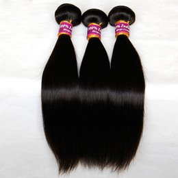 Indian Virgin Remy Hair Straight 3 4 Pcs Lot Unprocessed Indian Silky Straight Human Hair Weave Bundles Natural Black Extensions Double Weft