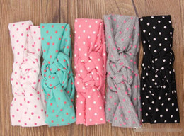 Free Shipping 10pcs Baby Hair Bows Headbands Fashion New Dot Cross Knot Turban Tie Knot Hair Bows For Baby BY0000