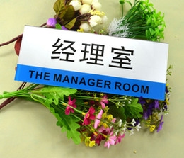 Wholesale Customized Door Signs Board with Adhesive Tape at Back Acrylic Signs for Office School Shop Supermarket Restaurant