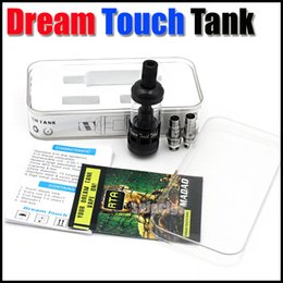 Wholesale-Dream Touch Tank 0.5ohm 1ohm 4ml tank replacement Coil Glass Atomizer Airflow Vape Drop oil fit to EGO One Ego Now Sub ohm
