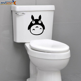 Totoro toilet sticker ZooYoo8301 bathroom waterproof vinyl decals fridge sticker cartoon movie stickers nursery wall decals art