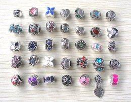 Wholesale 2015 new mix color mix style big hole antique meta big holel loose beads fit European bracelet jewelry DIY