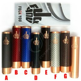 Wholesale Fuhattan V2 mods full mechanical mod carbon fiber with FUCK YOU logo mech mod clone battery Manhattan Phenom AV Apollo DHL