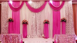 Wholesale High Quality Wedding Backdrop Curtain Sequined Cheap Wedding Decorations m m Cloth Background Scene Wedding Decor Supplies