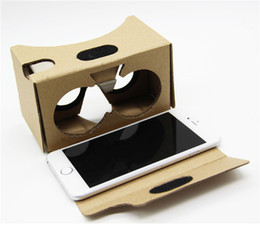 Google 2 2.0 Version Cardboard Glasses DIY 3D VR Boxes Virtual Reality V2 Viewing Carton Google Glasses for iphone 7 6s 6 plus Samsung s7 s8