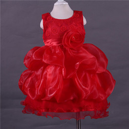 Wholesale Flower Girl Dresses New Style Vestido meninas Lace Flower Cake Tower Layered Kid Girl Pageant Dress